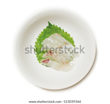 sashimi of Red sea bream