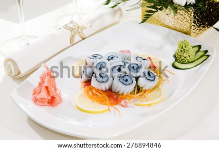 sashimi raw fish - stock photo
