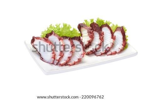 sashimii octopus - stock photo