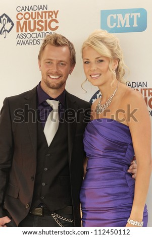 SASKATOON, CANADA - SEPT 9:  Codie Prevost arriving on the Green Carpet of the 2012 Canadian Country Music Association Awards at Credit Union Centre on September 9, 2012 in Saskatoon, Canada