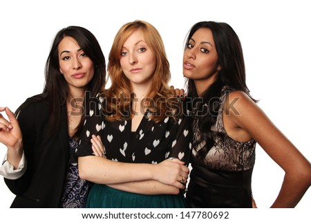 Sassy Group of Girlfriends - stock photo