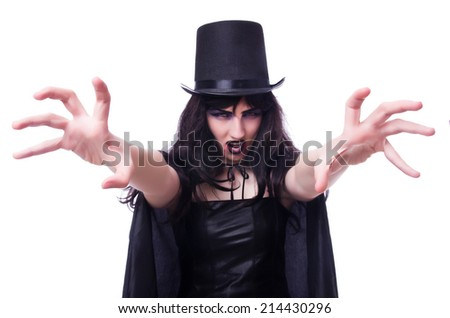 Satan halloween concept isolated on white - stock photo