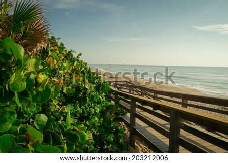Satellite Beach in Florida in the Summer. - stock photo