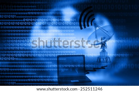 Satellite communications concept	 - stock photo