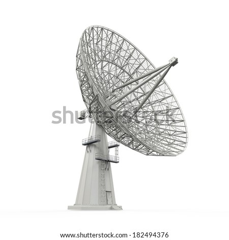 Satellite Dish Antenna - stock photo