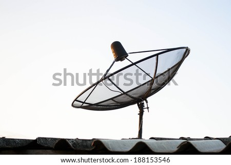 satellite dish antennas on the roof