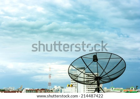 satellite dish in the sky