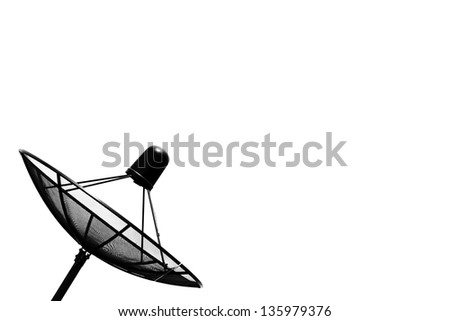 Satellite dish isolated on a white background