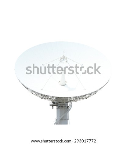 Satellite dish, isolated on white background with clipping path - stock photo