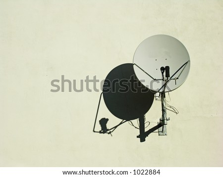 Satellite Dish on a Wall