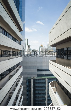 Satellite dish on building - stock photo