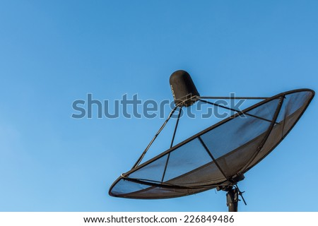 Satellite dish sky communication technology network