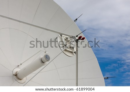 Satellite Dishes at National Radio Astronomy Observatory in Brewster, Washington, USA. - stock photo