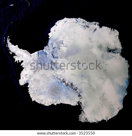 Satellite image of Antarctica - stock photo