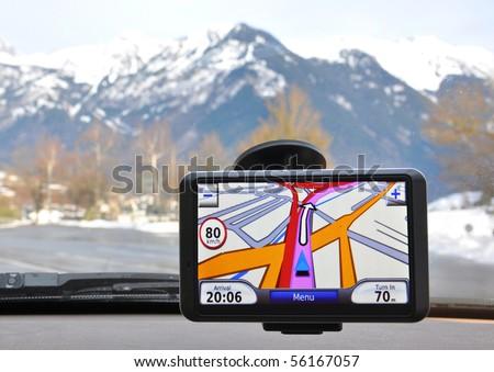 Satellite navigation system - stock photo