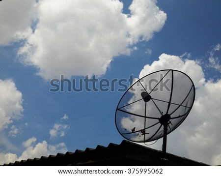 Satellite of sky