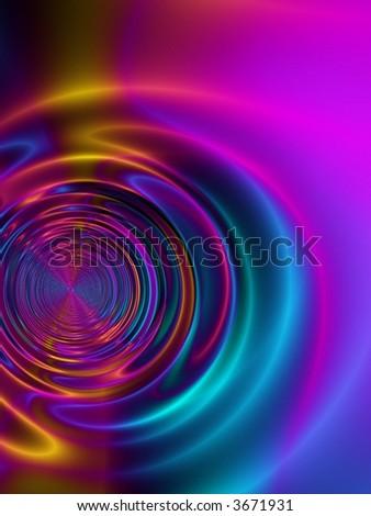 satin metallic ripple - stock photo