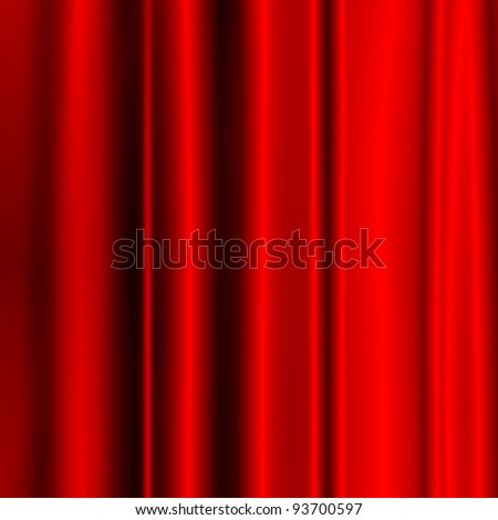 satin red fabric as christmas background to insert text or design - stock photo