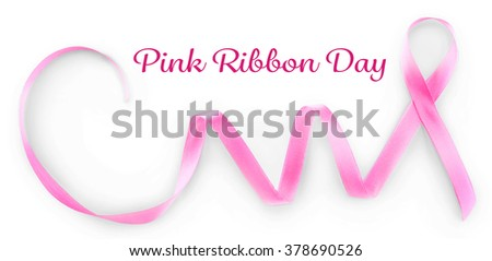 Satin ribbon sign isolated on white
