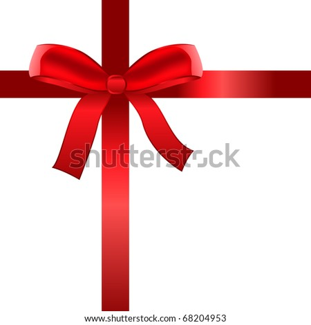 Satin ribbon tied in a bow. Raster version. Vector version is in my gallery