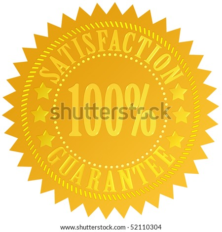 Satisfaction guarantee icon - stock photo
