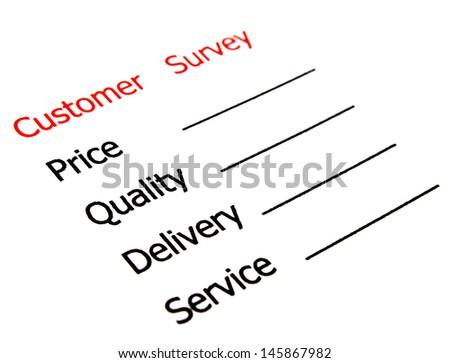satisfaction survey showing marketing concept - stock photo
