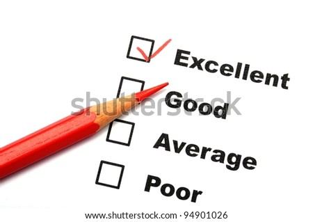 satisfaction survey showing marketing concept to improve sales