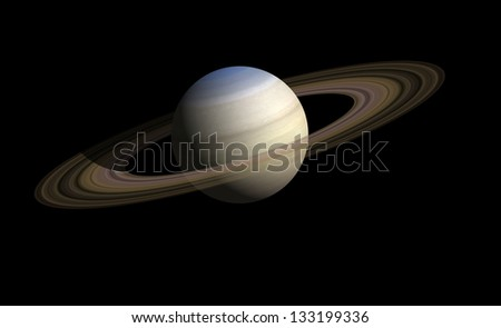 saturn. Elements of this image furnished by NASA - stock photo