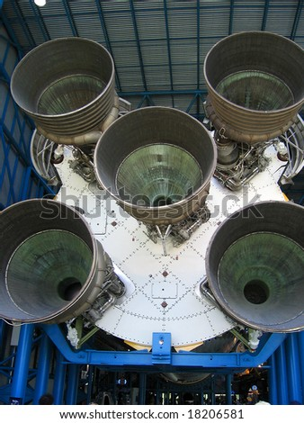 saturn five, Florida, Kennedy space centre - stock photo