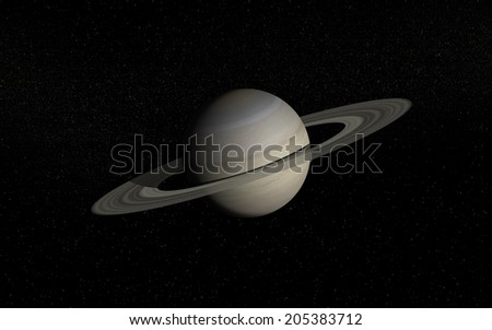 "Saturn in deep space  ""Elements of this image furnished by NASA"" - stock photo"