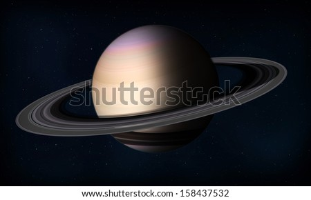 Saturn planet in space