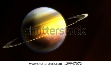 Saturn, planet of the solar system - stock photo