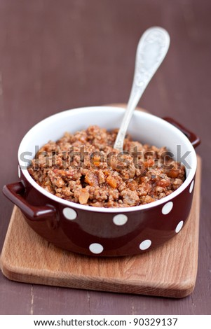 sauce bolognese - stock photo