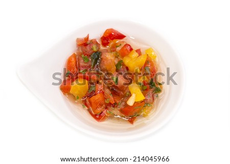 sauce on a white background - stock photo