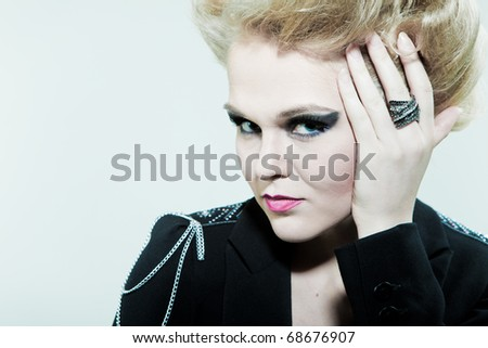 Saucy look fashion women - stock photo