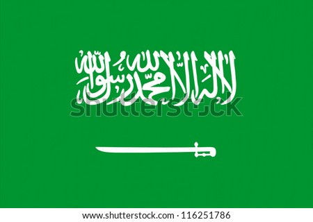 Saudi Arabia flag drawing by pastel on charcoal paper - stock photo