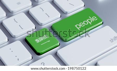 Saudi Arabia High Resolution People Concept - stock photo