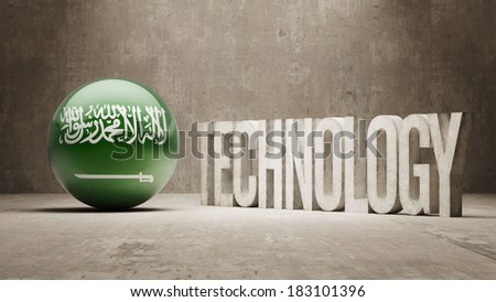 Saudi Arabia High Resolution Technology Concept - stock photo