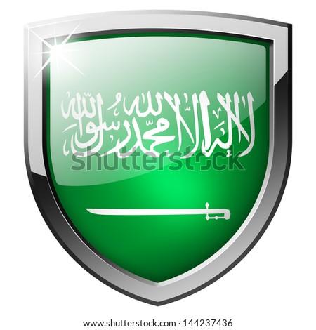 saudi arabia shield - stock photo