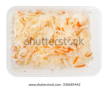 Sauerkraut isolated on white background - stock photo