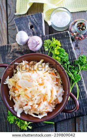 Sauerkraut salad - stock photo