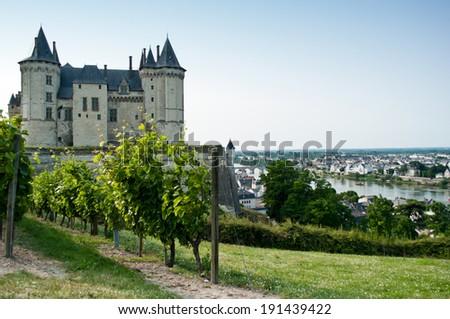 Saumur castle - stock photo