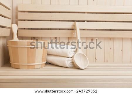 sauna and spa accessories - stock photo