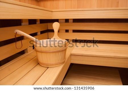 Sauna room - stock photo