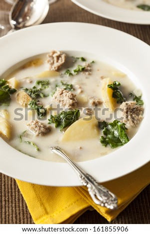 Sausage and Kale Tuscana Soup with Potato Appetizer
