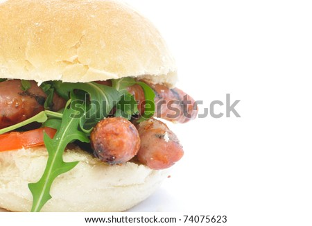 Sausage roll - stock photo