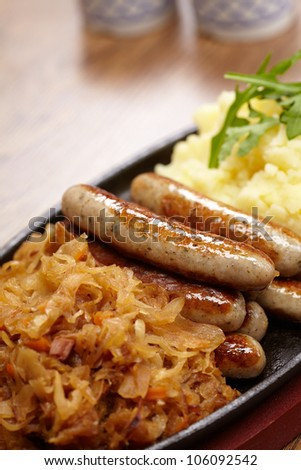 sausage with cabbage