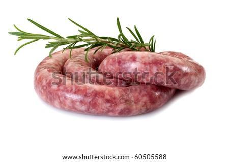 sausage with rosemary - stock photo