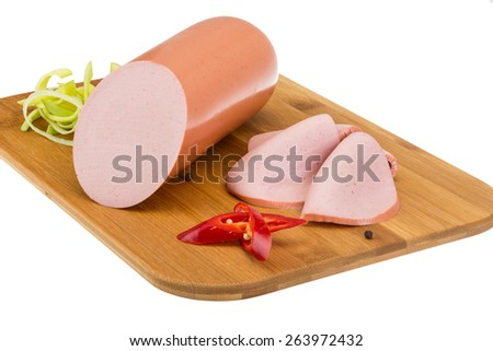 Sausages - isolated on the white background - stock photo
