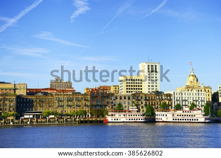 Savannah skyline, Georgia, USA - stock photo